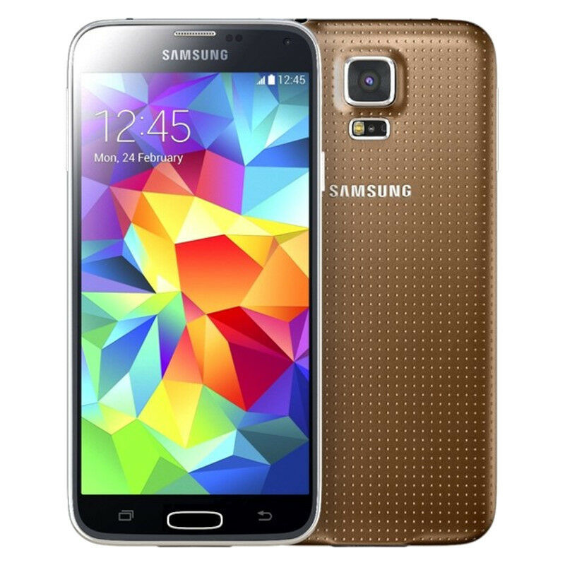 samsung galaxy s5 sm g900v 16gb copper gold verizon. Black Bedroom Furniture Sets. Home Design Ideas