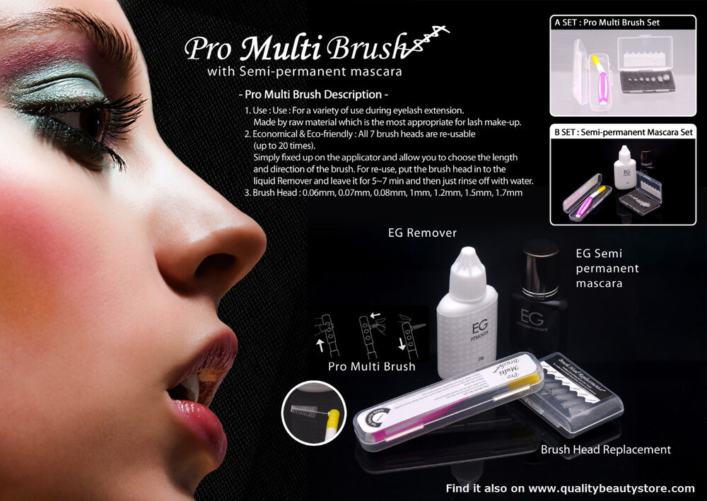 Eyelash Glam Eg Semi Permanent Mascara Kit For Eyelash Extensions