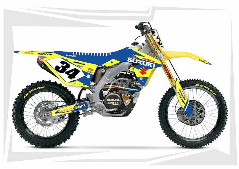 2007 2008 2009 suzuki rmz 250 dirt bike graphics kit. Black Bedroom Furniture Sets. Home Design Ideas