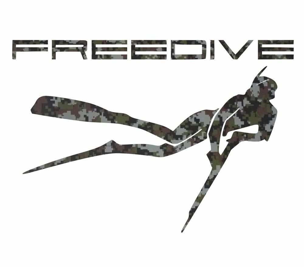 Camouflage spearfishing sticker spear fishing wetsuit for Diving and fishing mural