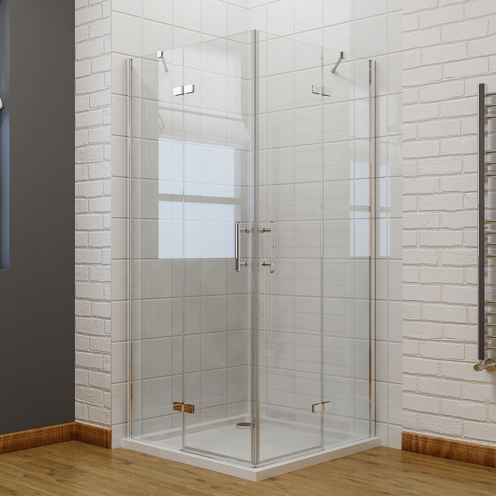 Pivot Frameless Corner Entry Shower Enclosure And Tray Cubicle Glass Door EBay