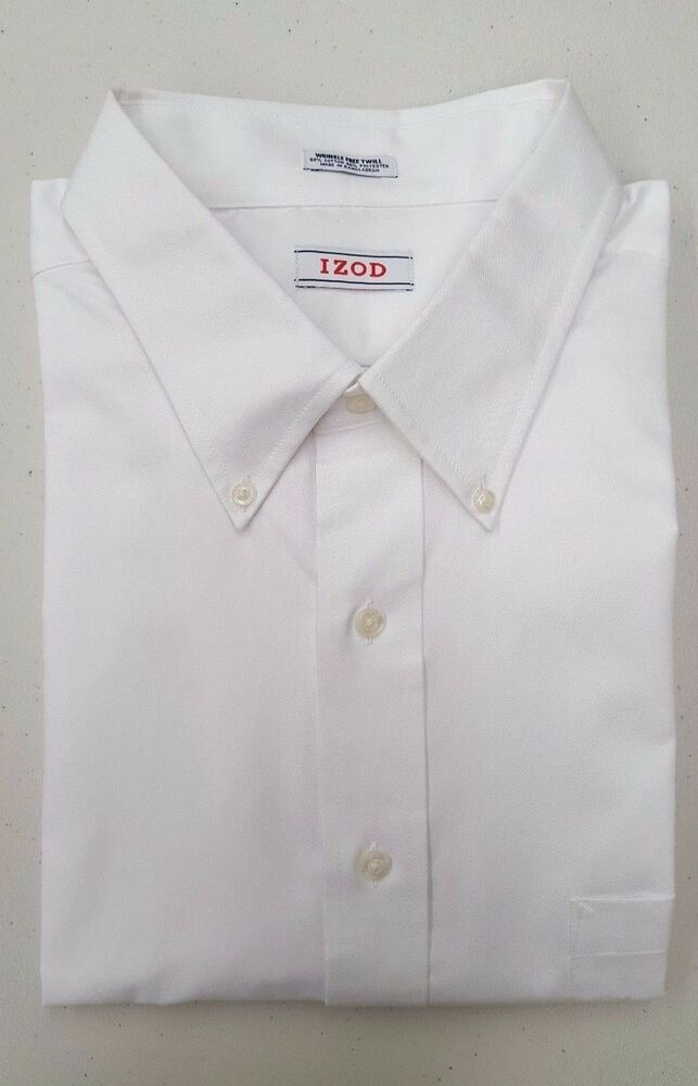 Izod big and tall men 39 s regular fit button down dress for Tall mens dress shirts