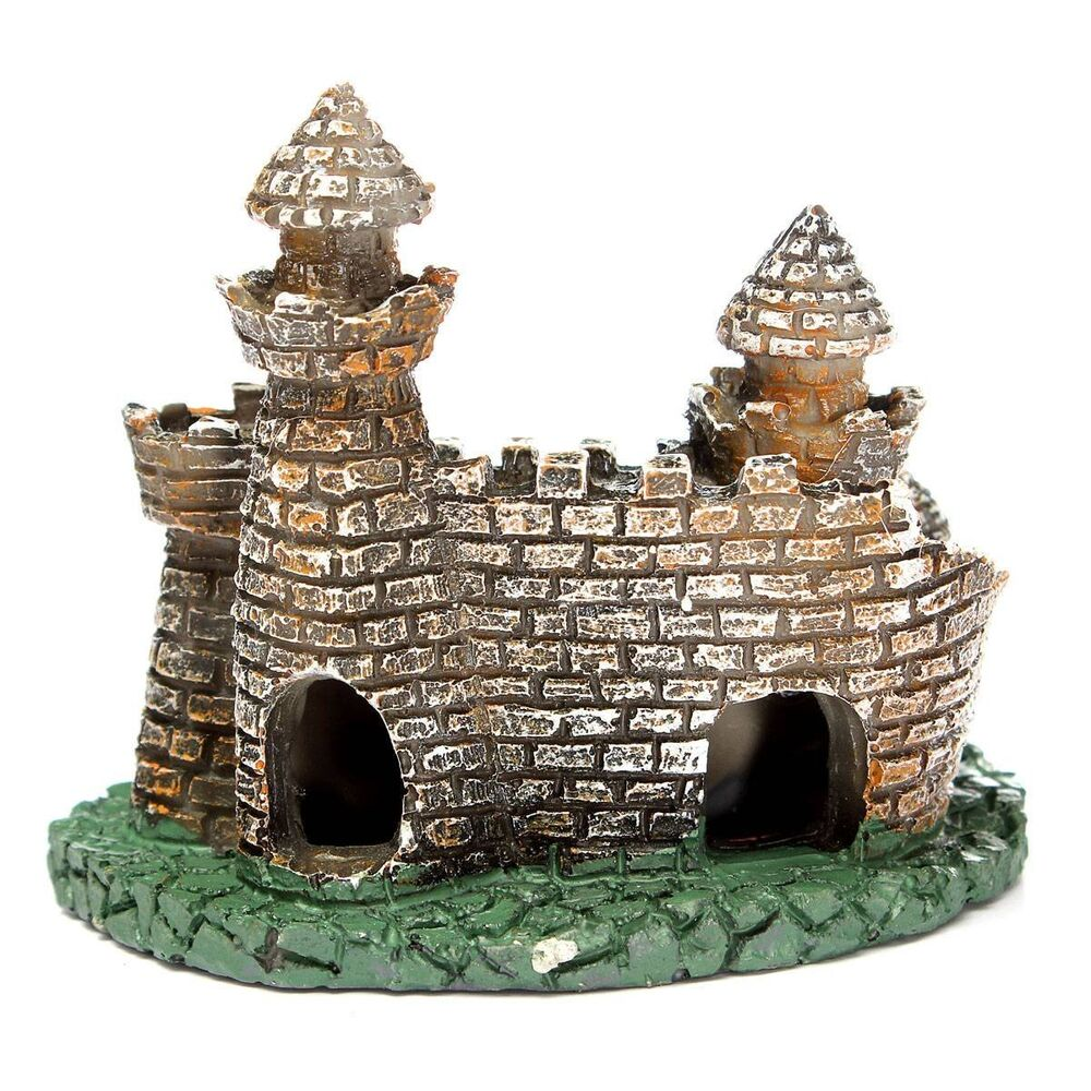 Artificial aquarium fish tank ornament castle tower house for Art for decoration and ornamentation