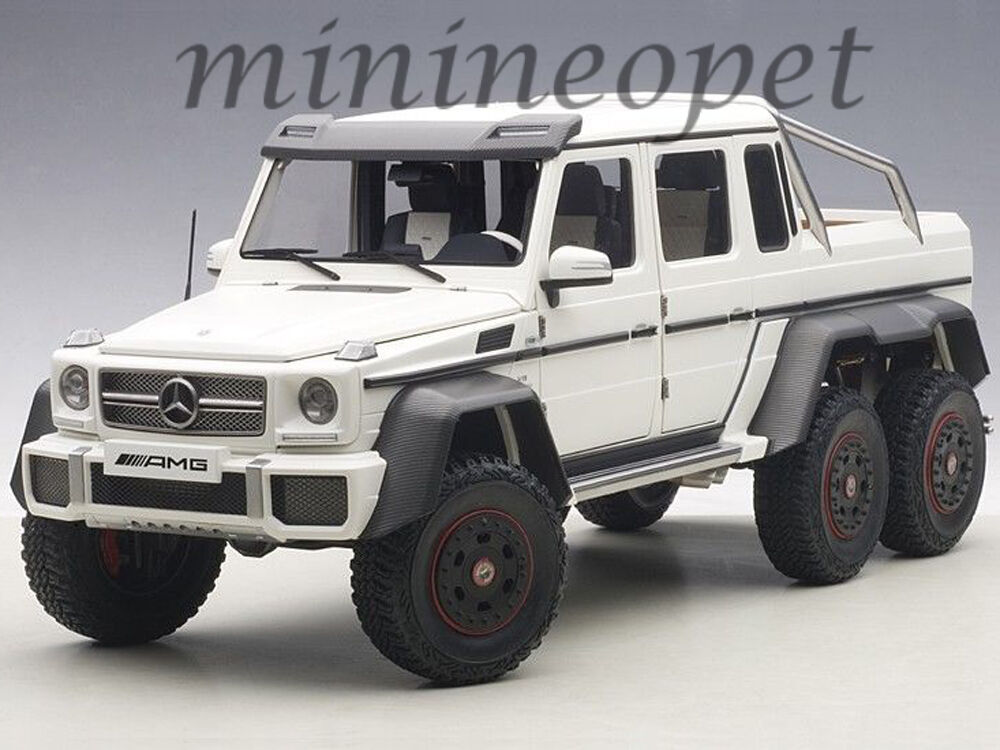 autoart 76303 mercedes benz g63 6x6 1 18 model car matte white ebay. Black Bedroom Furniture Sets. Home Design Ideas