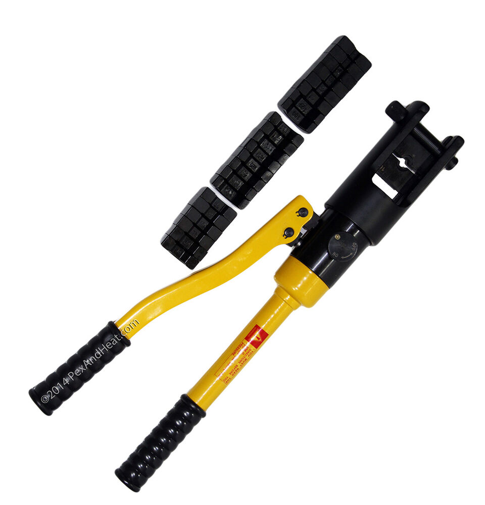 Hydraulic Electrical Crimper Crimping Tool 11 Dies 10 Tons