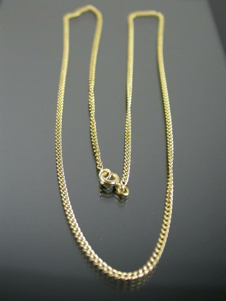 Rare Antique French 18ct Gold Curb Link Necklace Chain C