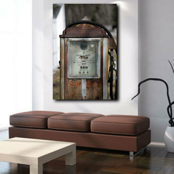 Antique Gas Pump Canvas Art Poster Print Home Wall Decor