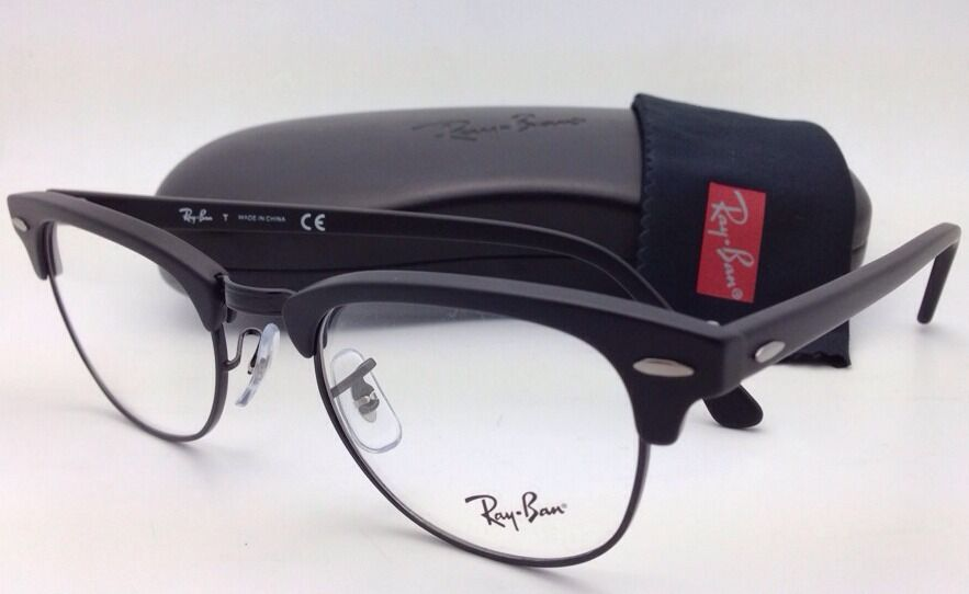 New Ray Ban Clubmaster Rx Able Eyeglasses Rb 5154 2077 49