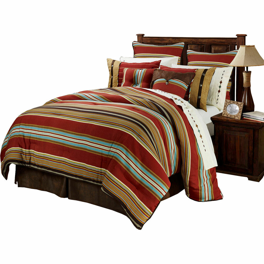 Montana western 4 piece super size comforter bedding set for Pictures of comforters