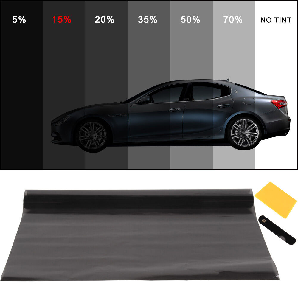 Pro dark smoke 15 car window tint roll 6m x 76cm film for 15 window tint pictures