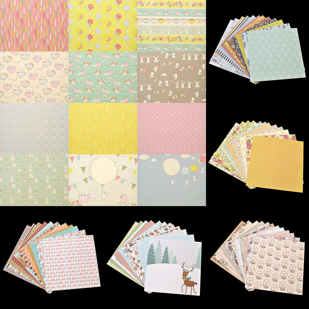 24pcs single side paper pad origami diy card scrapbooking for Diy paper origami