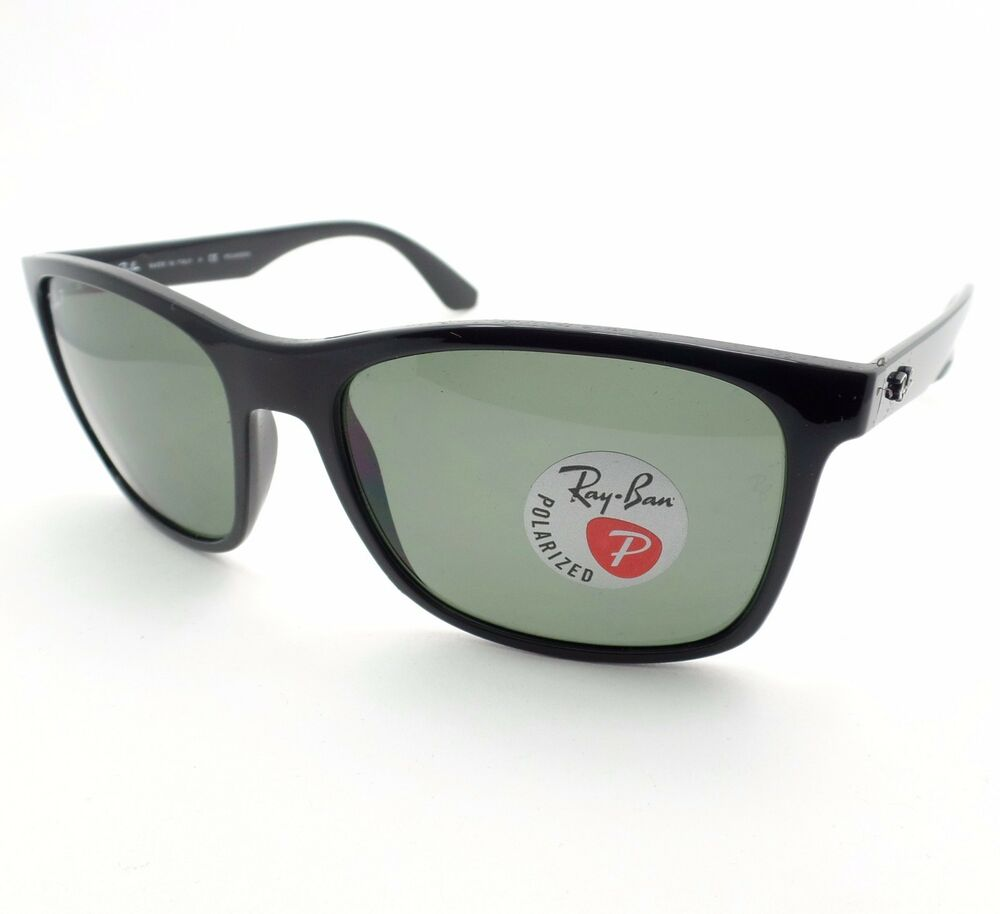 4950694dd6 Details about Ray Ban 4232 601 9A Black Green Polarized New Authentic  Sunglasses