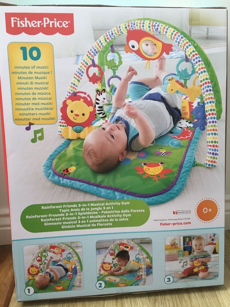 Fisher price 3 in 1 musical activity gym mat rainforest for Silla 3 en 1 fisher price