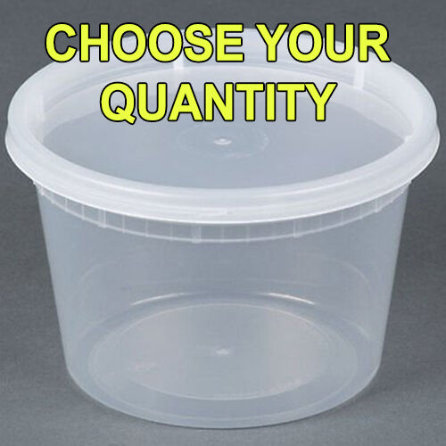 Oz Plastic Soup Food Container With Lids