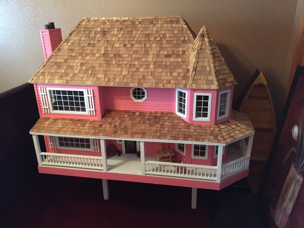 Large doll house dollhouse mansion wood furniture girls vintage play fantasy ebay Dollhouse wooden furniture