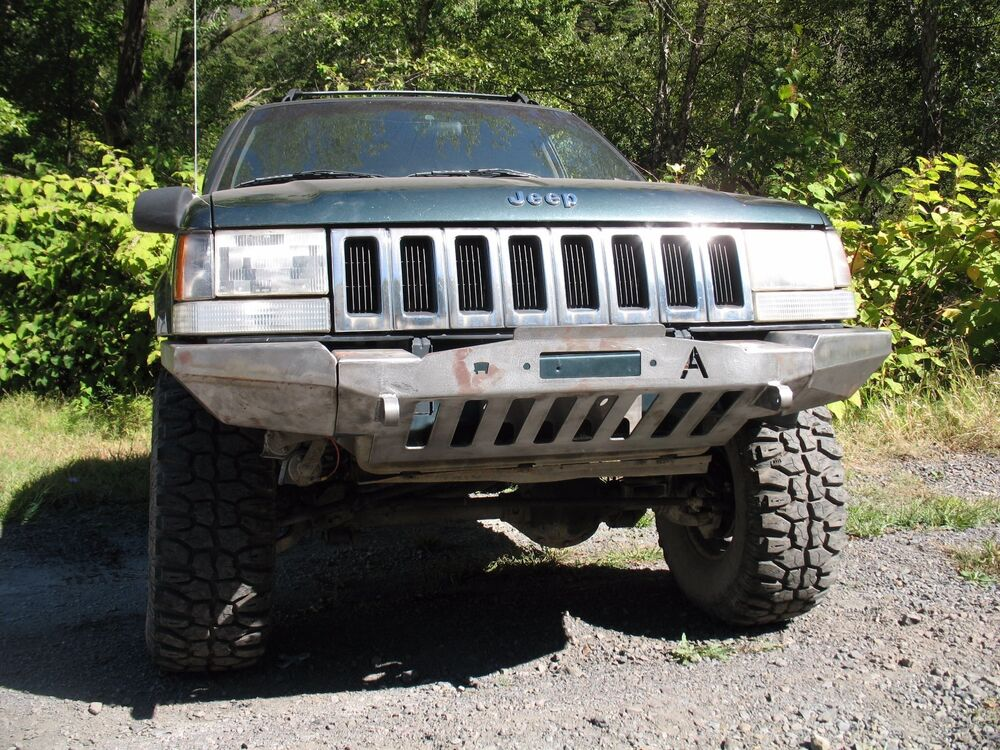 1993 98 jeep grand cherokee zj winch plain front bumper ebay. Black Bedroom Furniture Sets. Home Design Ideas