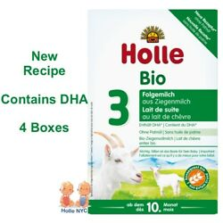 Holle Goat Milk Stage 3 Organic Formula with DHA 4 Boxes 400g Free Shipping
