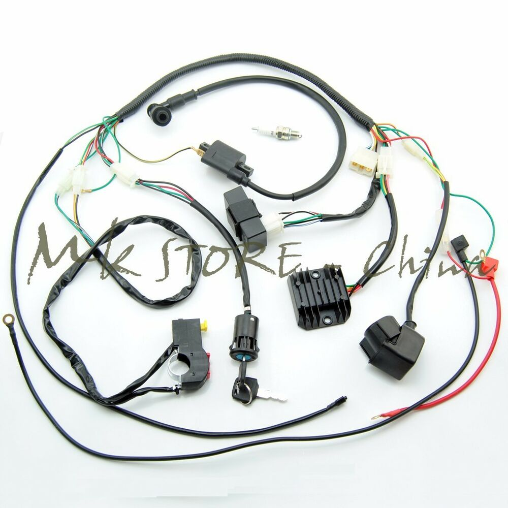 complete electrics wiring harness chinese dirt bike 150. Black Bedroom Furniture Sets. Home Design Ideas