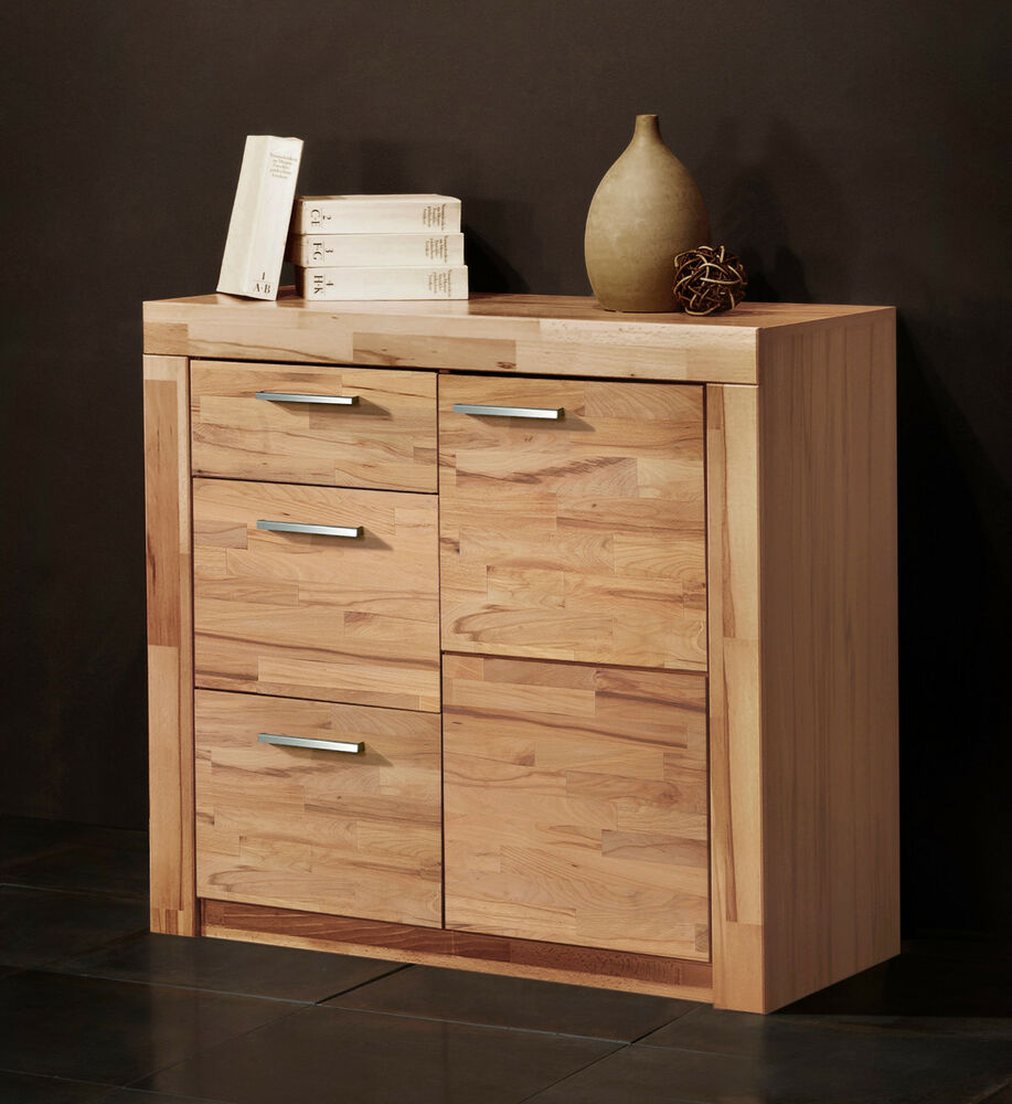 kommode 7148 1 anrichte sideboard highboard kernbuche struktur buche teil massiv ebay. Black Bedroom Furniture Sets. Home Design Ideas