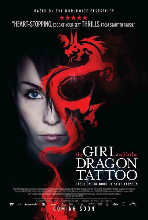 The Girl with the Dragon Tattoo Movie POSTER 27 x 40, CB, LICENSED NEW ... The Girl With The Dragon Tattoo Poster