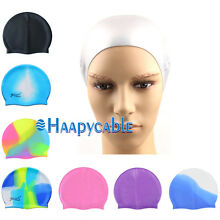 New Unisex Durable Adult Sport Silicone Elasticity Swimming Swim Cap Bathing Hat