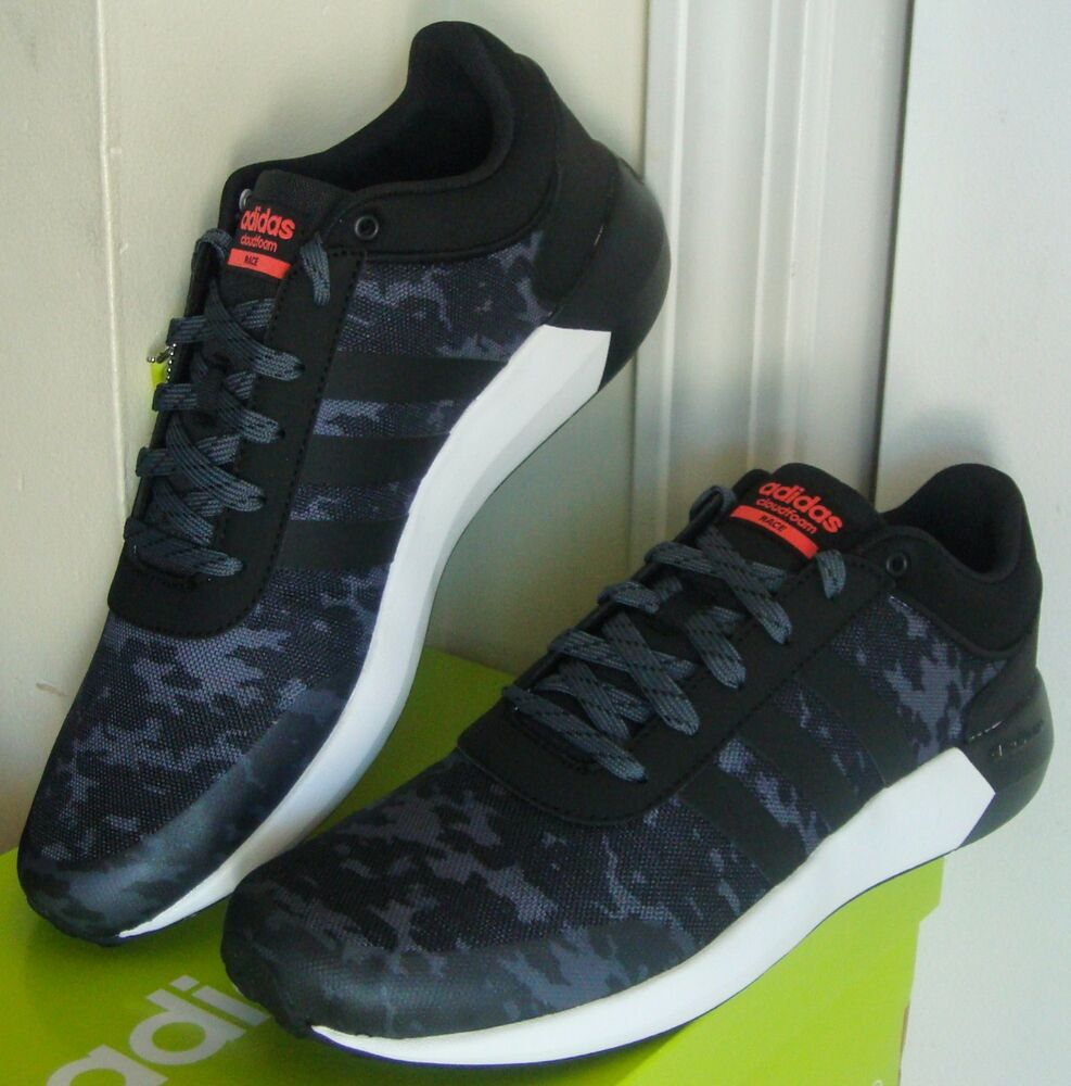 Men's Adidas Neo Cloudfoam Race Camouflage Athletic Sneakers Shoes - B74588  | eBay