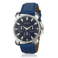 Texus Blue Strap Chronolook Dial Watch