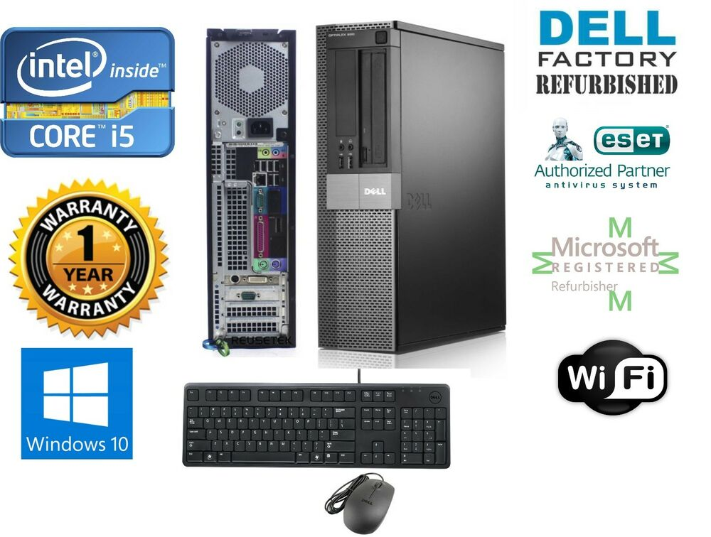 dell desktop computer intel core i5 windows 10 pro 64 240gb ssd 8gb ram ebay. Black Bedroom Furniture Sets. Home Design Ideas