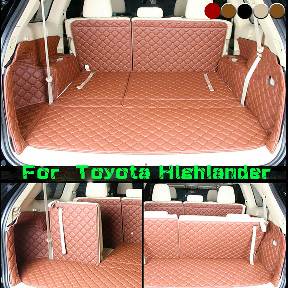 For Toyota Highlander 5 Seats 2014 2016 Trunk Mat Cargo Boot Liner Car Carpet Ebay