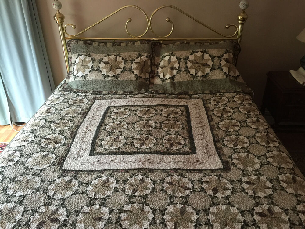 King Size Cotton Quilt With Two Shams Ebay
