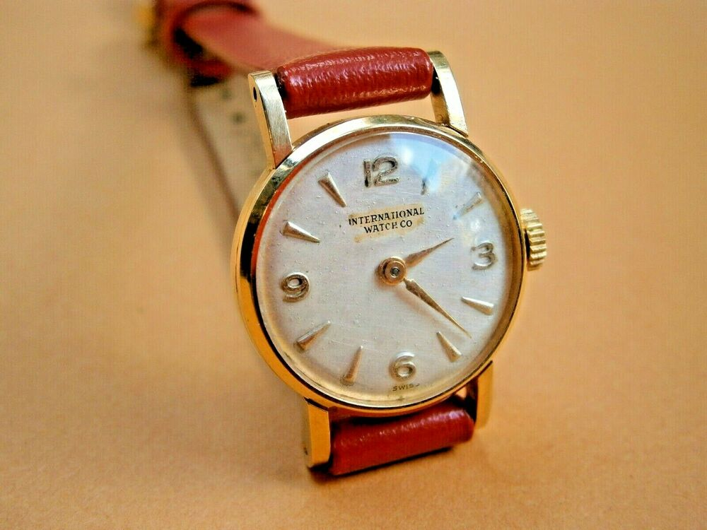 vintage iwc schaffhausen 18k yellow solid gold
