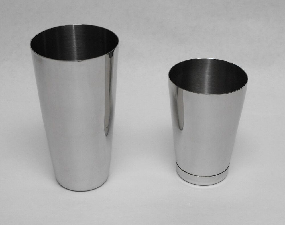 3 piece bar cocktail shaker strainer stainless steel boston flair mixing tin set ebay. Black Bedroom Furniture Sets. Home Design Ideas