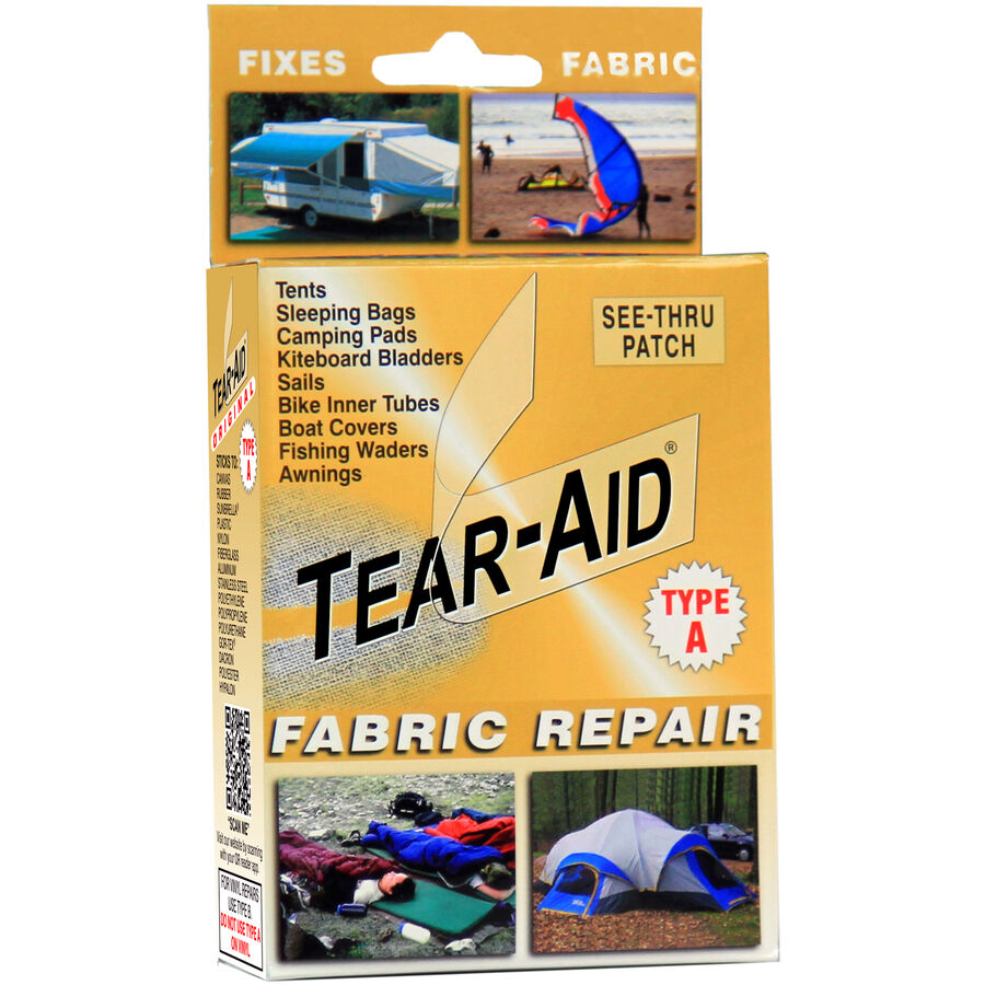 Tear Aid Kit Fabric Repair Tent Sofa Shoe Chair Rip Fix