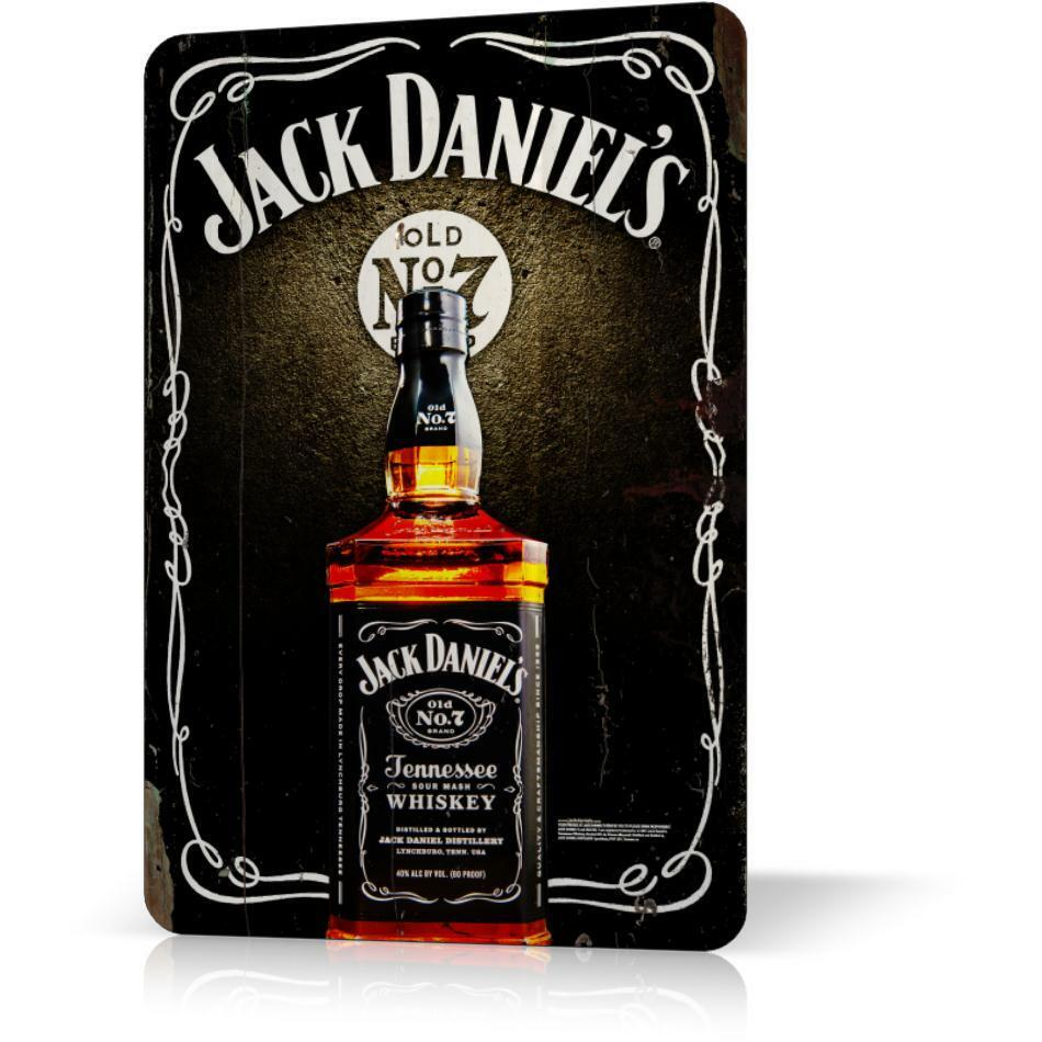 metal tin sign jack daniels whiskey vintage poster 3. Black Bedroom Furniture Sets. Home Design Ideas