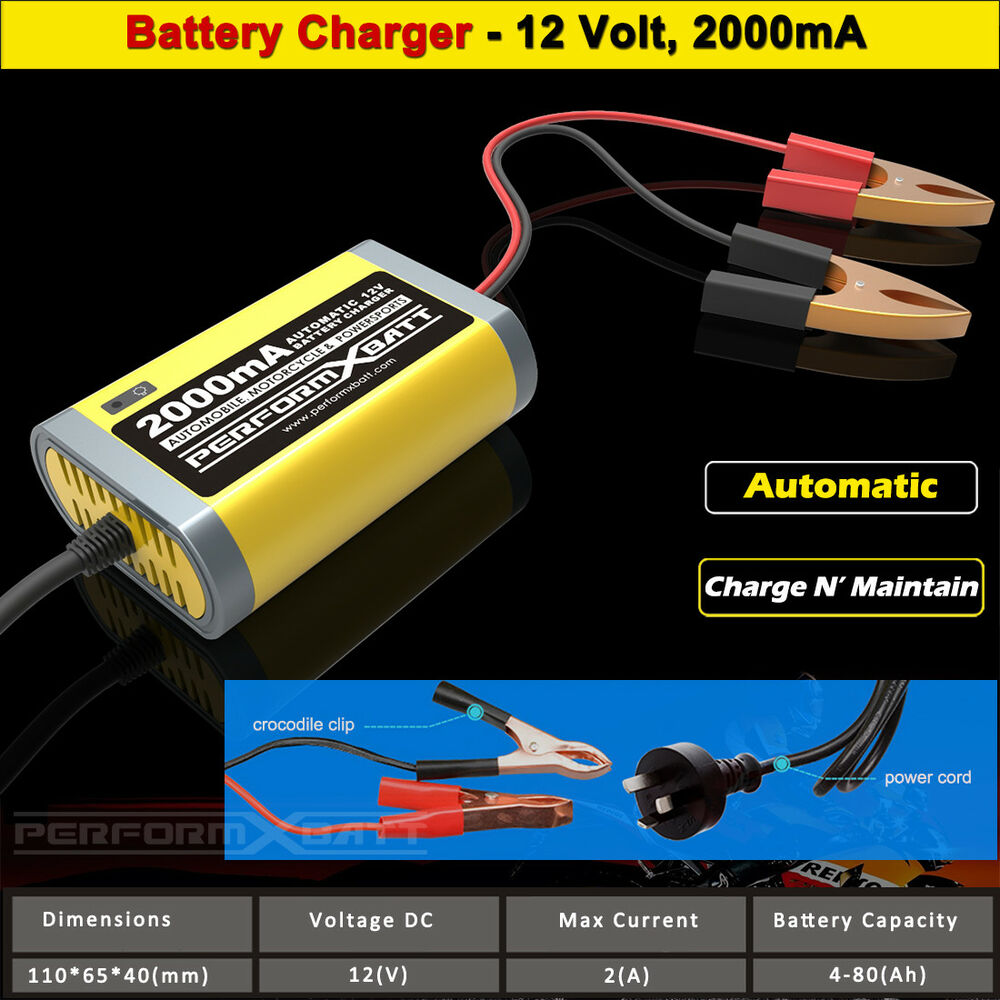 motorcycle battery trickle charger 12 volt 12v 2a car jet. Black Bedroom Furniture Sets. Home Design Ideas