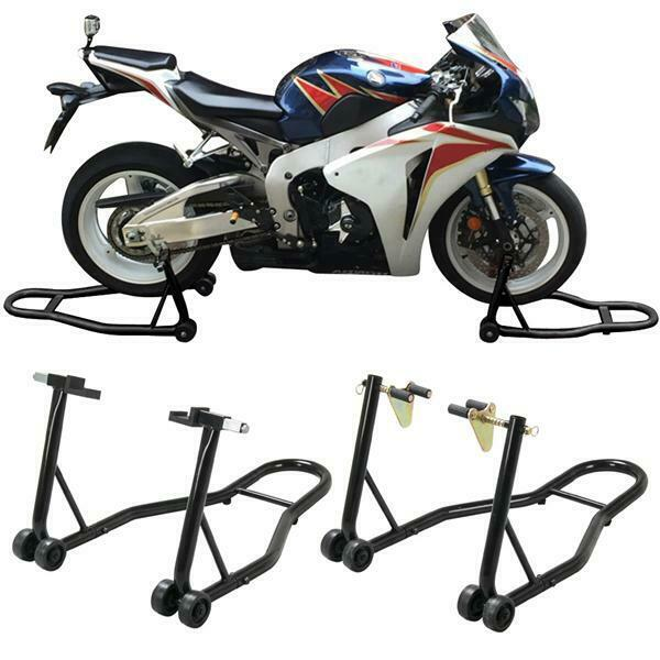 New Motorcycle Stand Front Rear Swingarm Lift Head Front