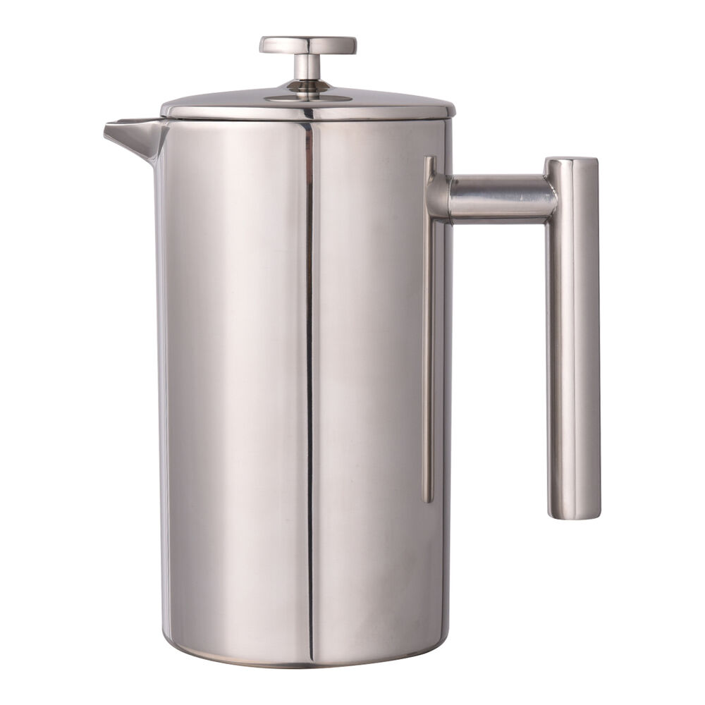34 oz double wall stainless steel coffee plunger 8 cup french coffee press maker ebay. Black Bedroom Furniture Sets. Home Design Ideas