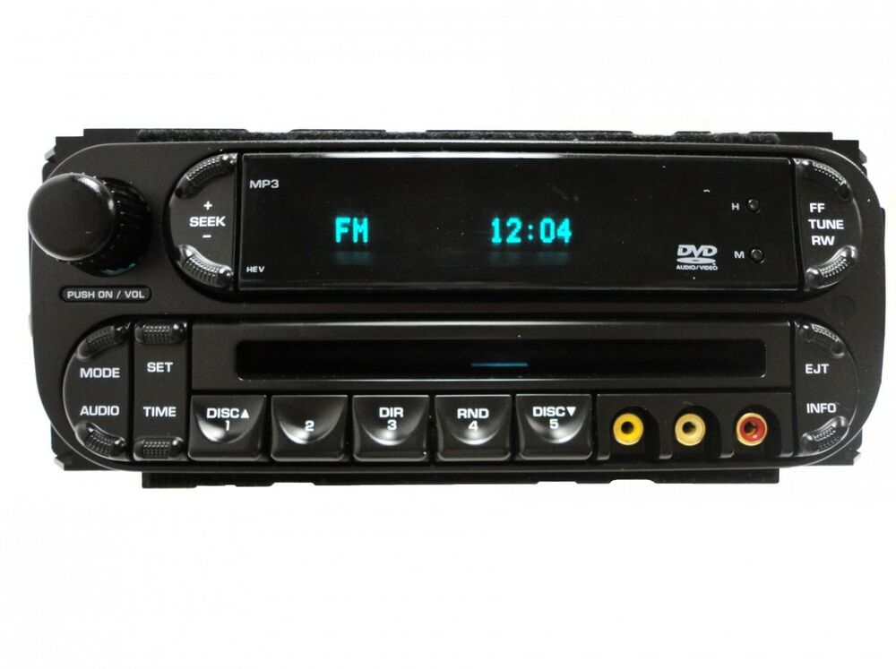 05 06 07 chrysler town and country dodge caravan radio cd dvd mp3 player rev oem ebay. Black Bedroom Furniture Sets. Home Design Ideas