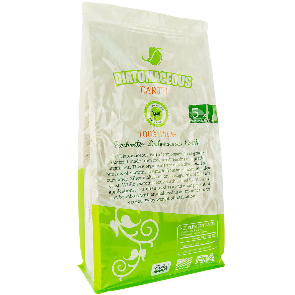 Diatomaceous Earth Food Grade Freshwater Type 100 Pure De De5 5lb Bag Ebay