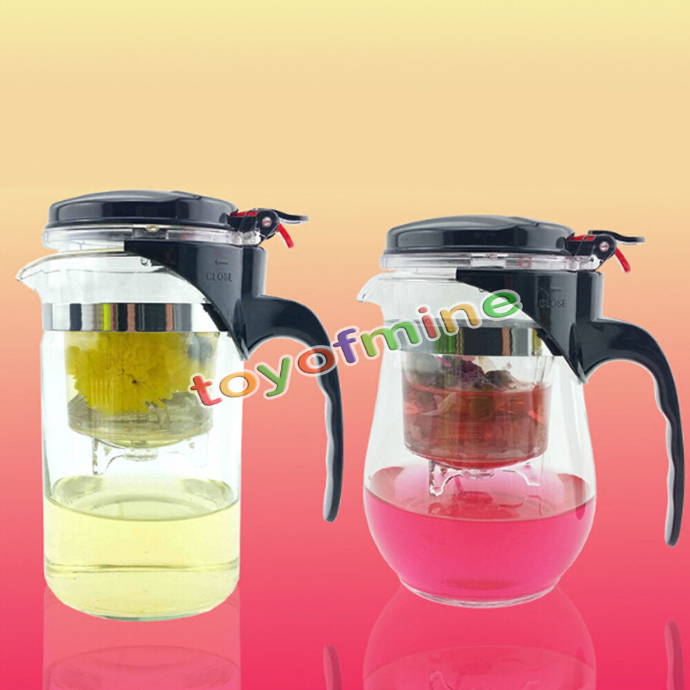 Coffee Maker Jug Set : 500ml Heat Resistant Glass Teapot Chinese Tea Set Puer Kettle Coffee Convenient eBay