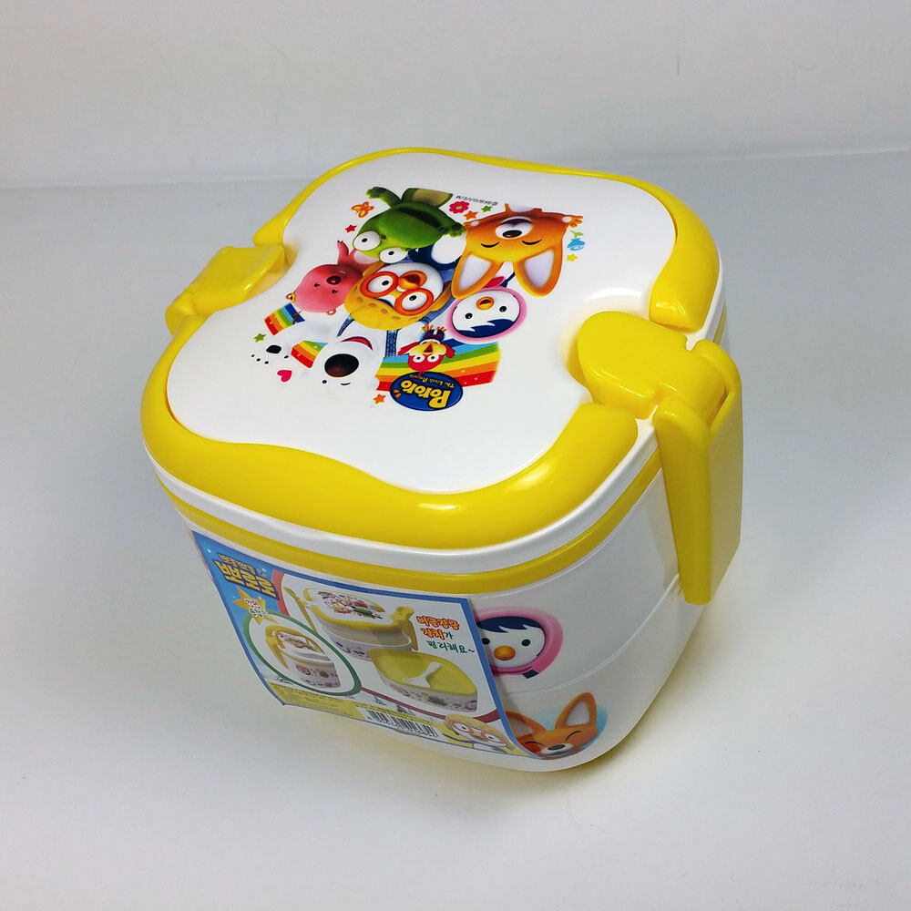 lunch box bento pororo character toys thermal insulated lunch box ebay. Black Bedroom Furniture Sets. Home Design Ideas