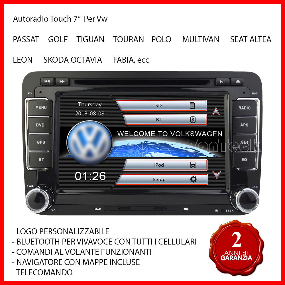 autoradio gps navigatore seat altea leon vw golf 5 6 passat polo tiguan scirocco ebay. Black Bedroom Furniture Sets. Home Design Ideas