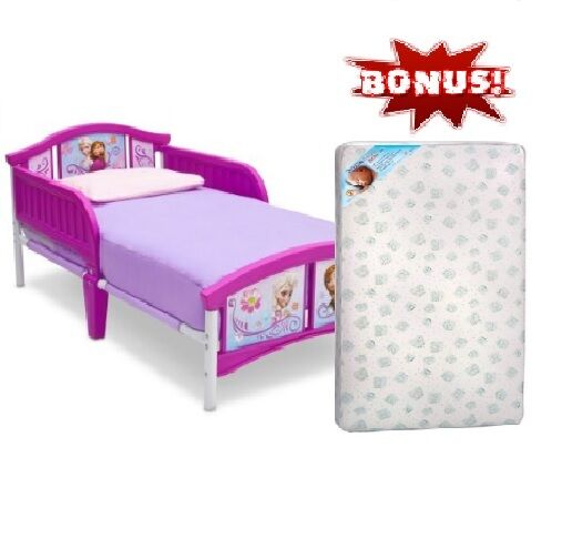 Toddler bed children disney frozen furniture bedroom plastic with bonus mattress ebay Plastic bedroom furniture