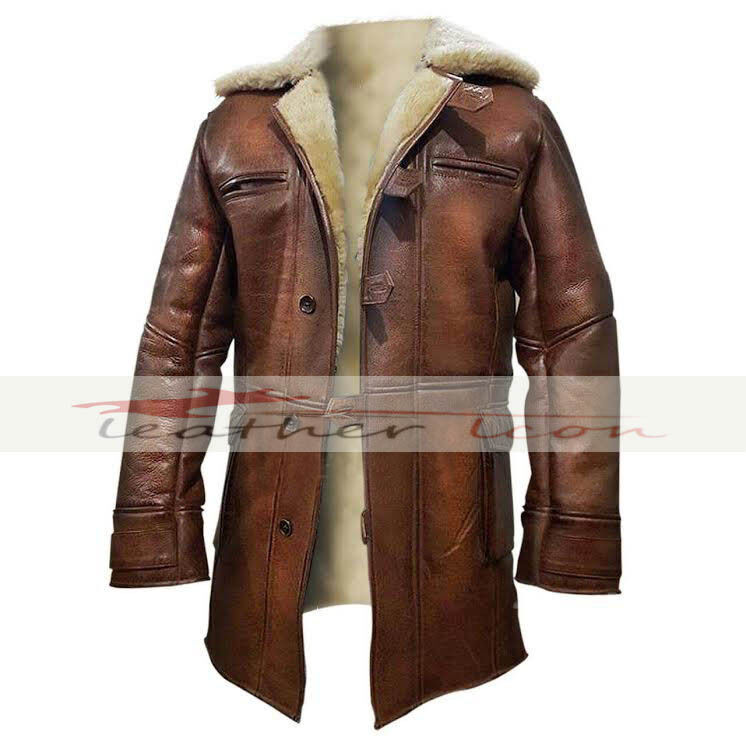 Dark Knight Rises Bane Real Shearling Genuine Leather