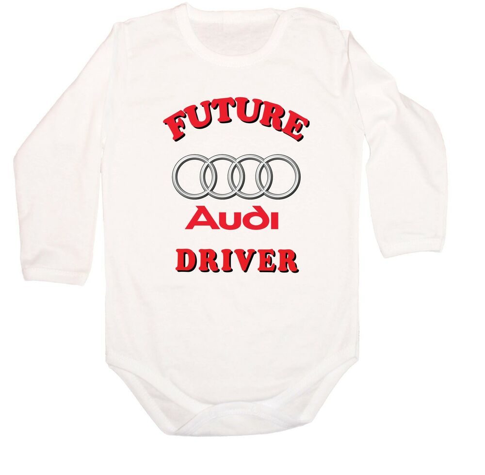 baby body bodysuit future audi driver logo fun car. Black Bedroom Furniture Sets. Home Design Ideas