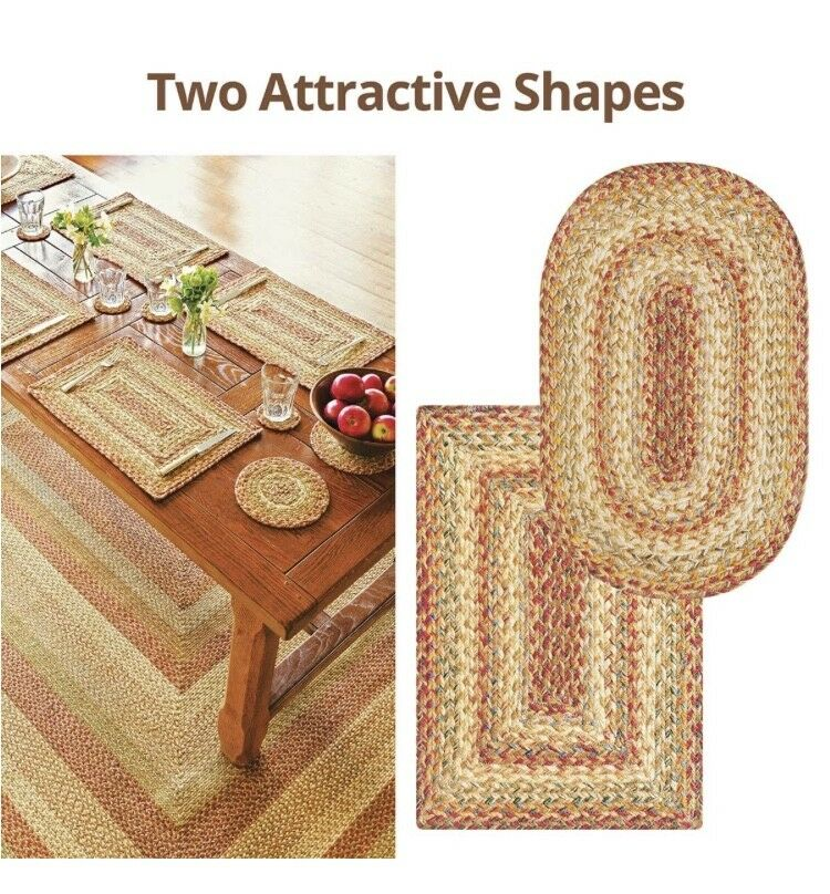 HARVEST BRAIDED AREA RUGS By HOMESPICE DECOR. OVAL