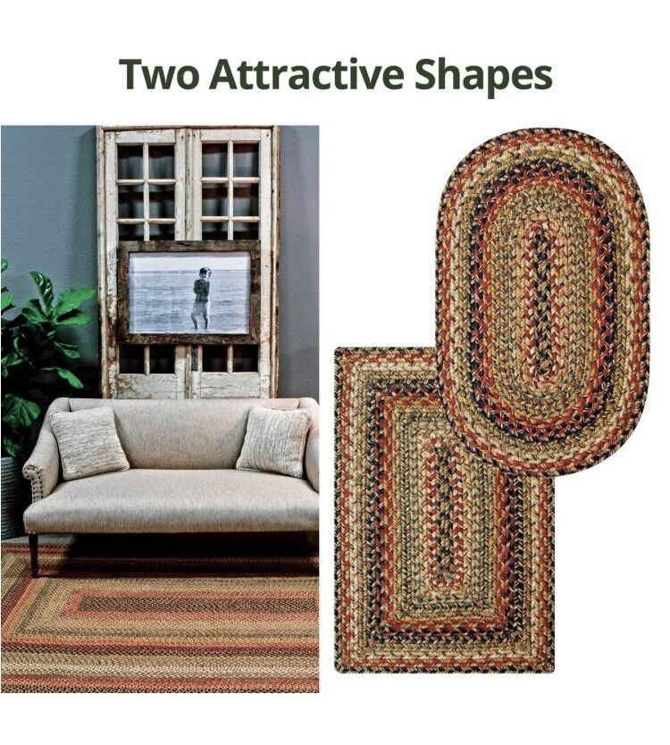 KINGSTON BRAIDED AREA RUGS By HOMESPICE DECOR. OVAL