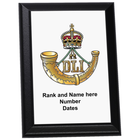 img-Personalised Wall Plaque - The Durham Light Infantry, DLI