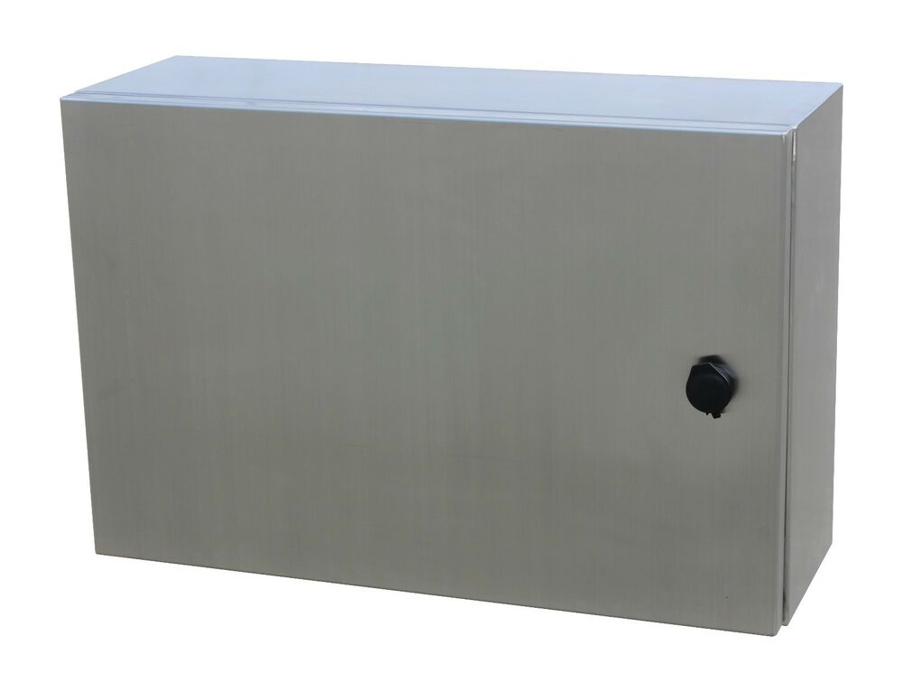316 stainless steel electrical enclosure 450hx600wx200d with ss swing handle ebay