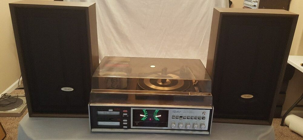 Rare Vintage Capehart Phono Double Record 8 Track Am Fm Fm